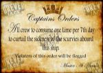 Metal Signs -Captains Orders
